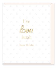 Blahoželanie LIVE LOVE LAUGH