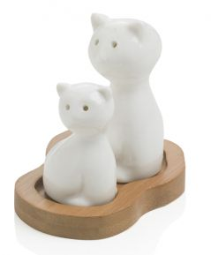 Porcelánová solnička/korenička Mačka