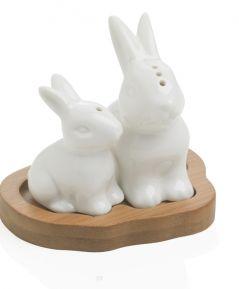 Porcelánová solnička/korenička Zajac
